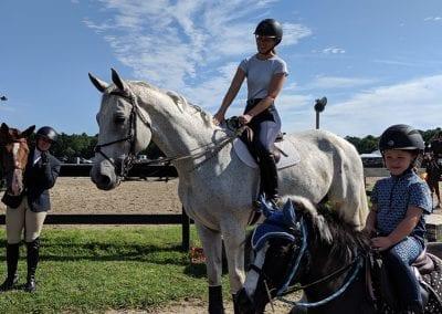 Emma Fletcher and Marilyn Riordan, nhec members on horses